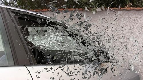 Broken Window Car Accident