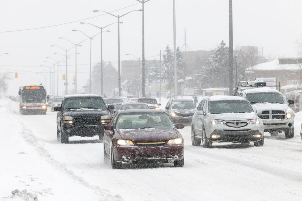 Canadian Collision Statistics in the Winter